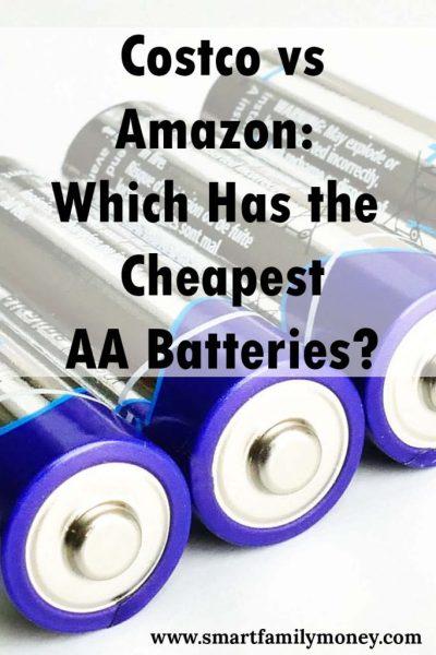 Costco vs. Amazon: Which Has the Cheapest AA Batteries?