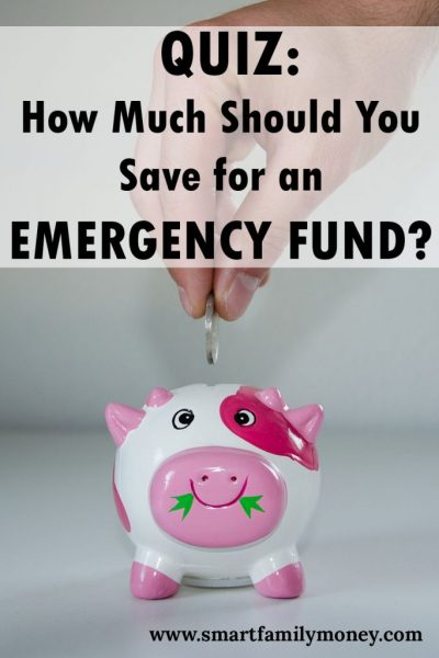 Quiz: How Much Money Should You Save for an Emergency Fund?