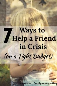 This is so helpful in giving me ideas how I can help my friend on my tight budget!