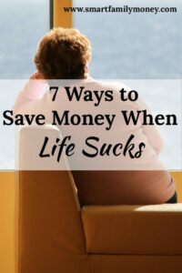 This posts give some great ideas for saving money when life sucks! I love it!
