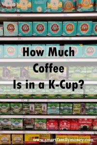 How Much Coffee is in a K-Cup?