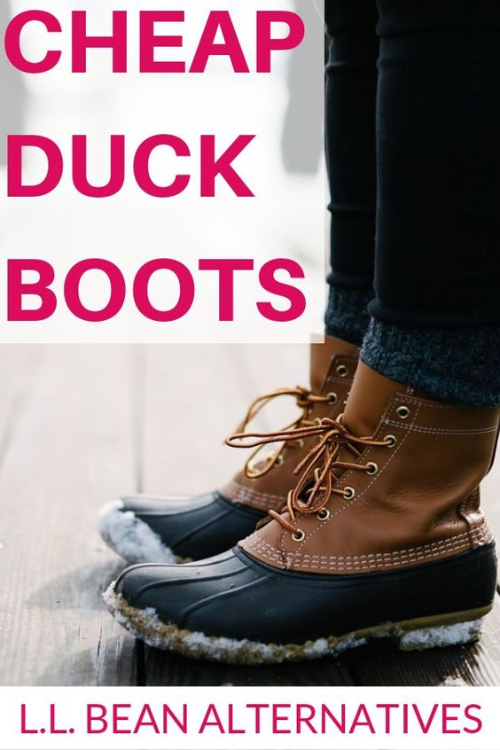 These awesome winter boots are great for fall or winter outfits. They are cheap alternatives to name-brand duck boots that you can buy for much less without sacrificing the quality and comfort you want. #fashion #frugalfashion #savingmoney #shopping #fashionhack #duckboot #sperry #LLBean #boots