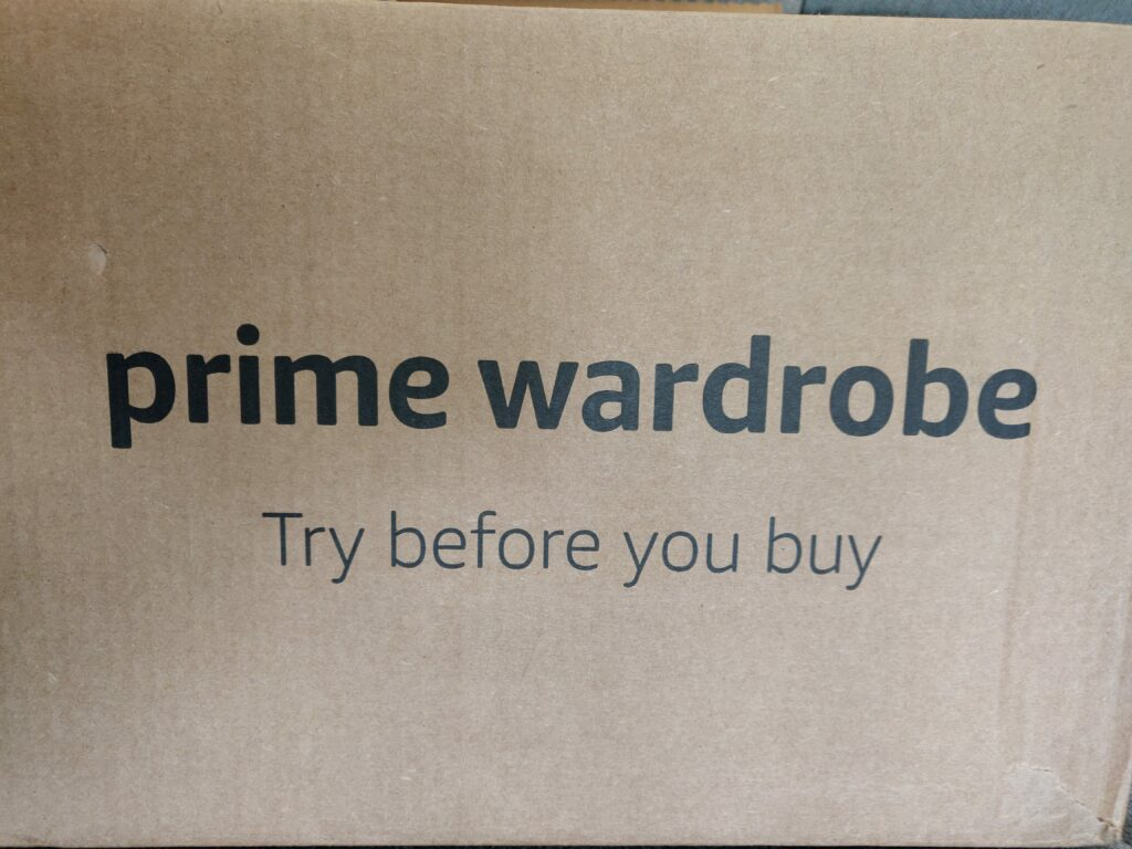 Prime Wardrobe shipping box