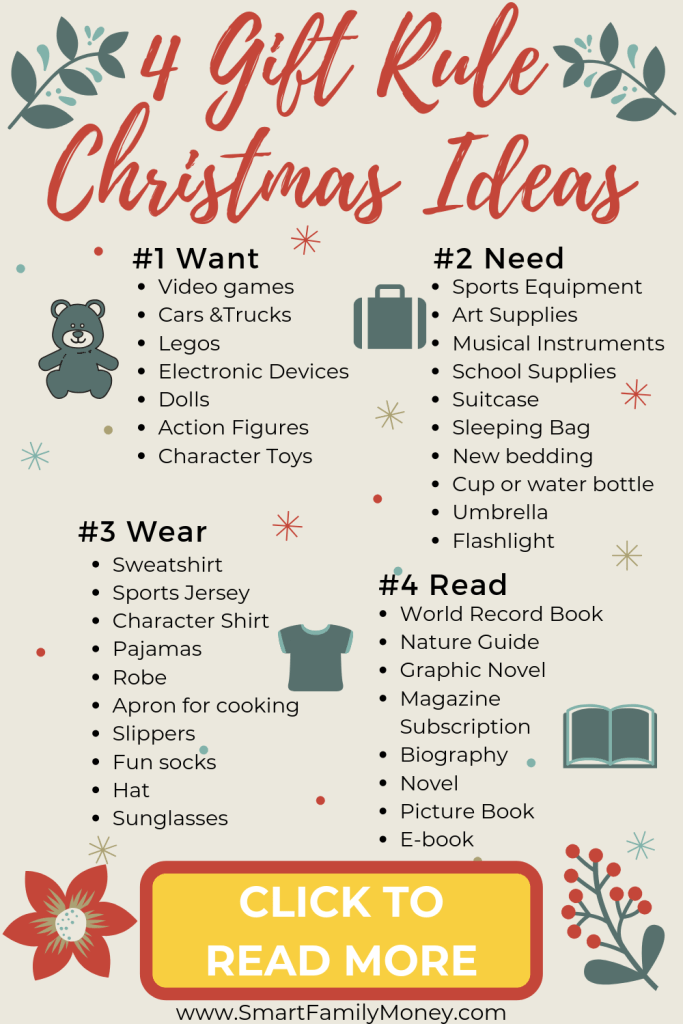 4 Gift Rule Christmas Ideas