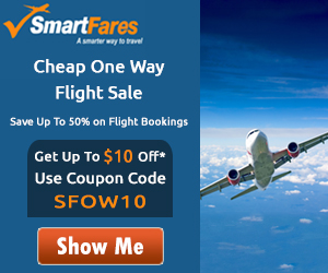Cheap One Way Flight Deals - Get Up To $10 Off with Coupon Code