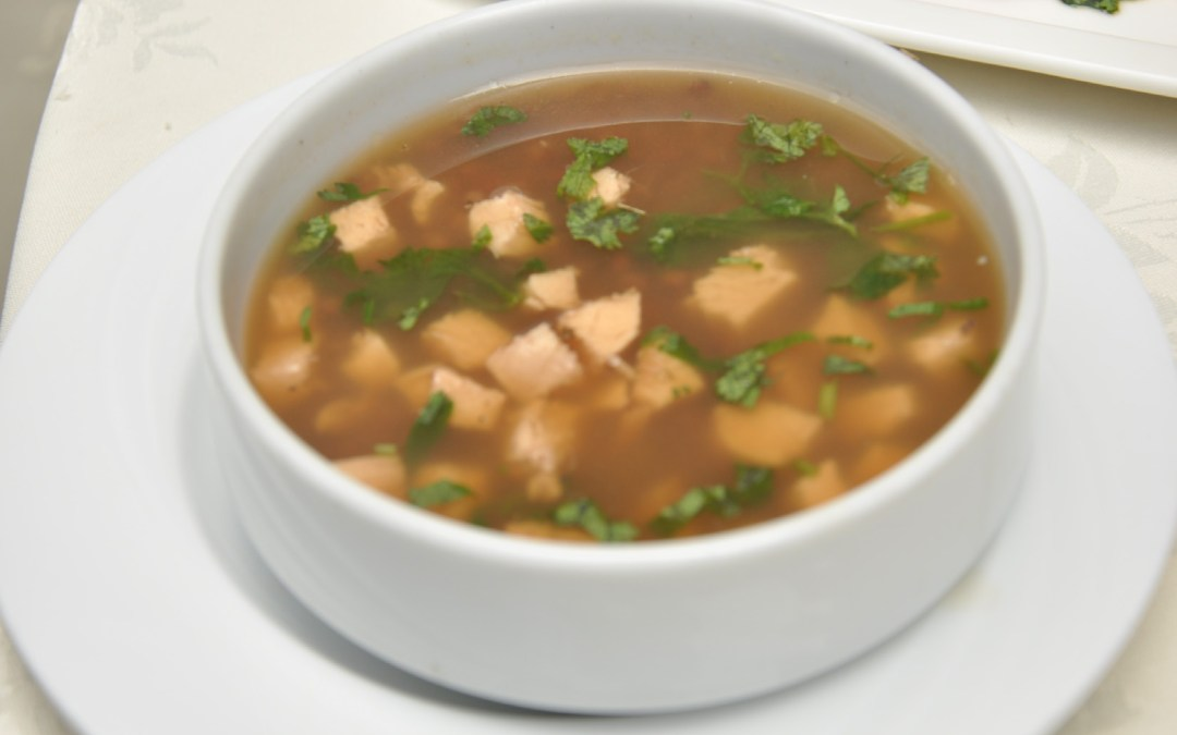 Sorghum, millet and chicken soup