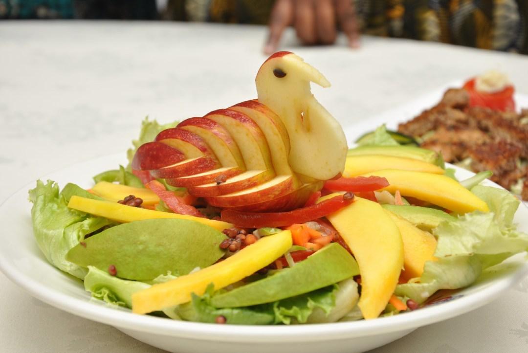 Garden sorghum salad