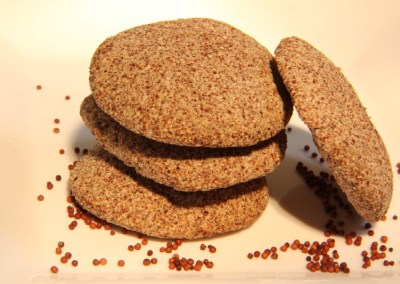 Millet and peanut butter cookies