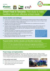Smart Food in Tanzania: Pilot study to make healthier and cost-effective school meals