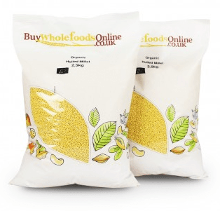 Organic Hulled Millet by buywholefoodsonline.co.uk