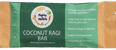 Coconut Ragi Bar by Mighty Millets
