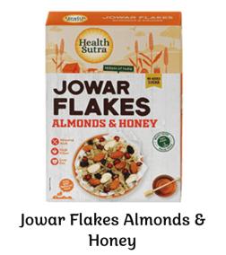 Jowar Flakes Almonds Honey by Health Sutra, Fountainhead Foods