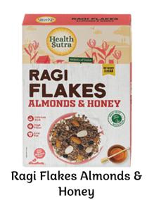 Ragi Flakes Almond Honey by Health Sutra, Fountainhead Foods