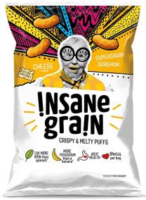 Cheese Flavour Sorghum Supergrain Puffs by Insane Grain