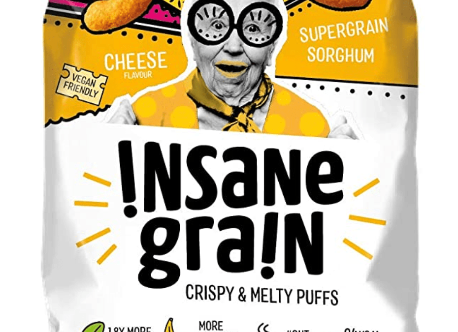 Cheese Flavour Sorghum Supergrain Puffs by Insane Grain