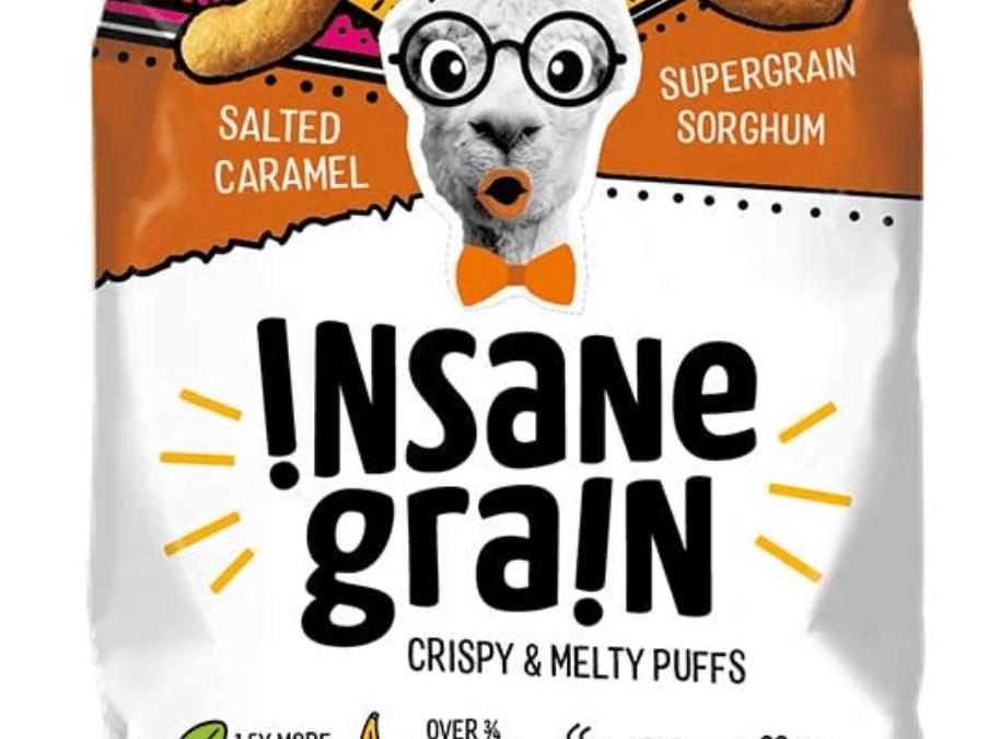Salted Caramel Sorghum Supergrain Puffs by Insane Grain