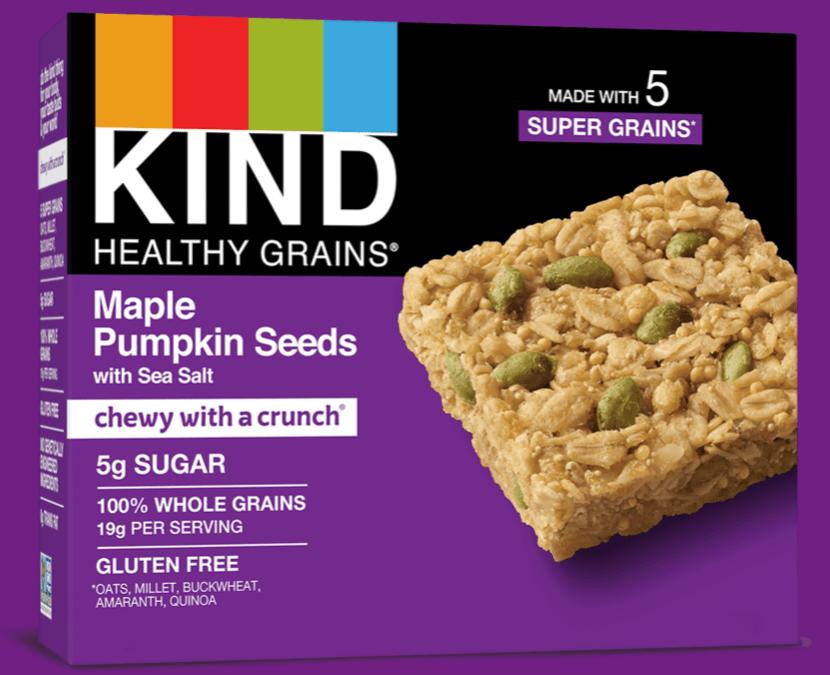 Healthy Grains Maple Pumpkin Seeds Bars by KIND