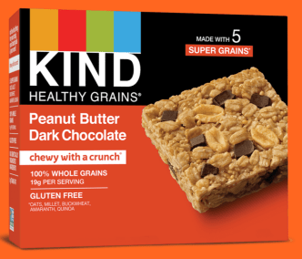 Healthy Grains Peanut Butter Dark Chocolate Bar by KIND