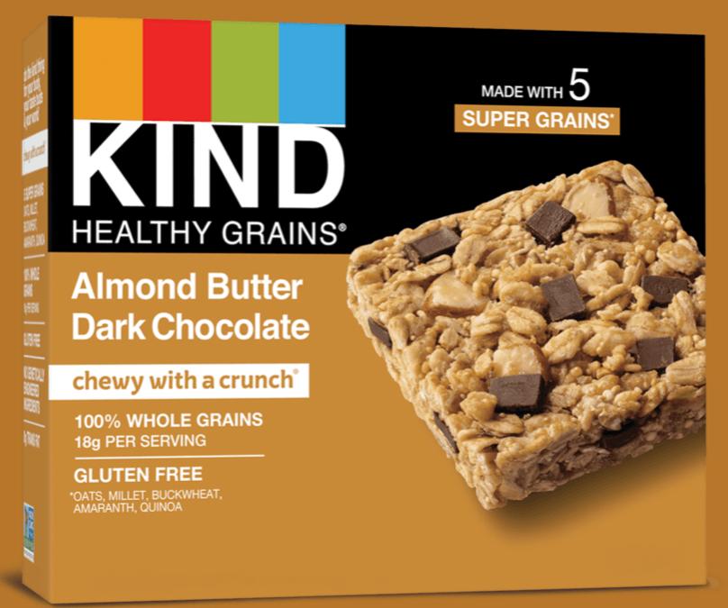 Healthy Grains Almond Butter & Dark Chocolate Bar by KIND