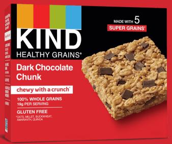 Healthy Grains Dark Chocolate Chunk Bars by KIND