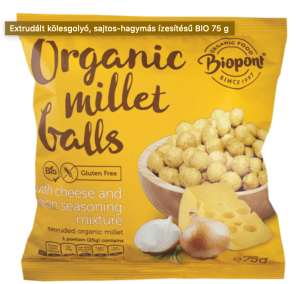 Organic Millet Balls Cheese and Onion Flavoured by Biopont