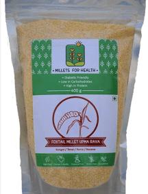 Foxtail Millet Upma Rava by Millets for Health