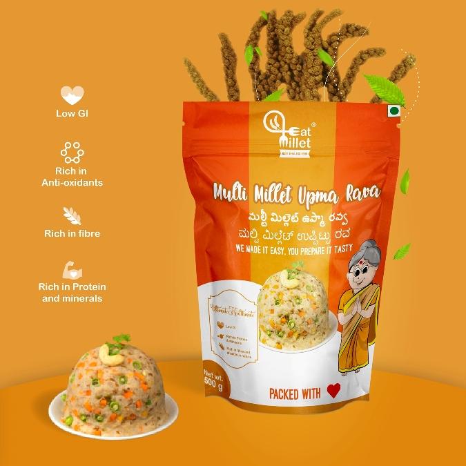 Multi Millet Upma Rava by Eat Millets, Coastal Foods