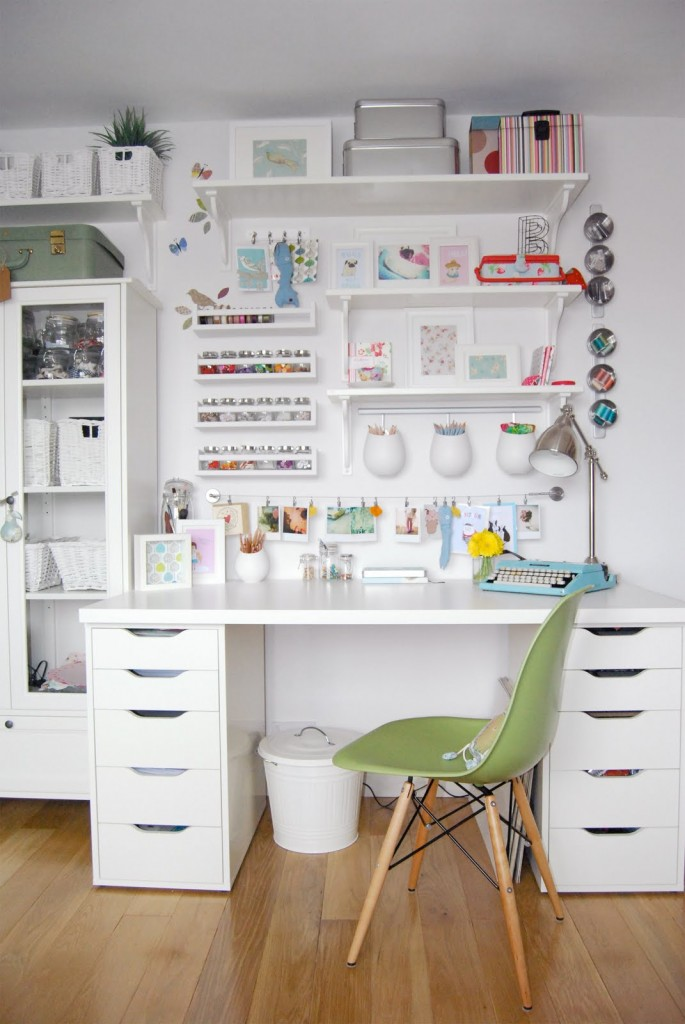 The BEST ideas for IKEA furniture and storage for CRAFT ROOMS! See a bunch of videos for Ikea Craft Rooms and there's even a photo series of a craft room from an IKEA store show room. LOVE THESE IDEAS! #ikeacraftrooms #craftroom #craftrooms #ebook #crafting #craftspace #craftsposure