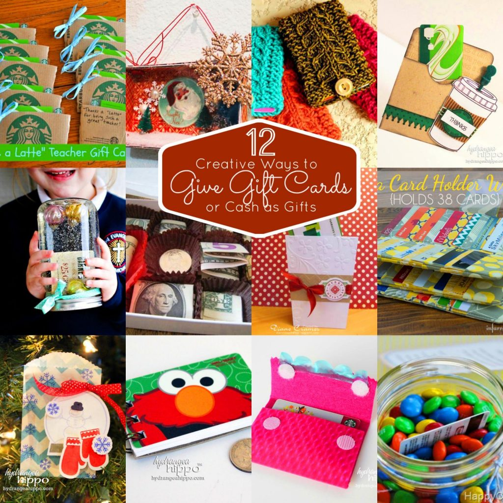 Creative ways to give gift cards collage