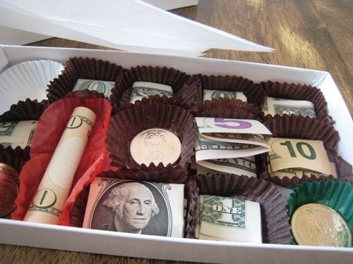 Chocolates Box Money Gift