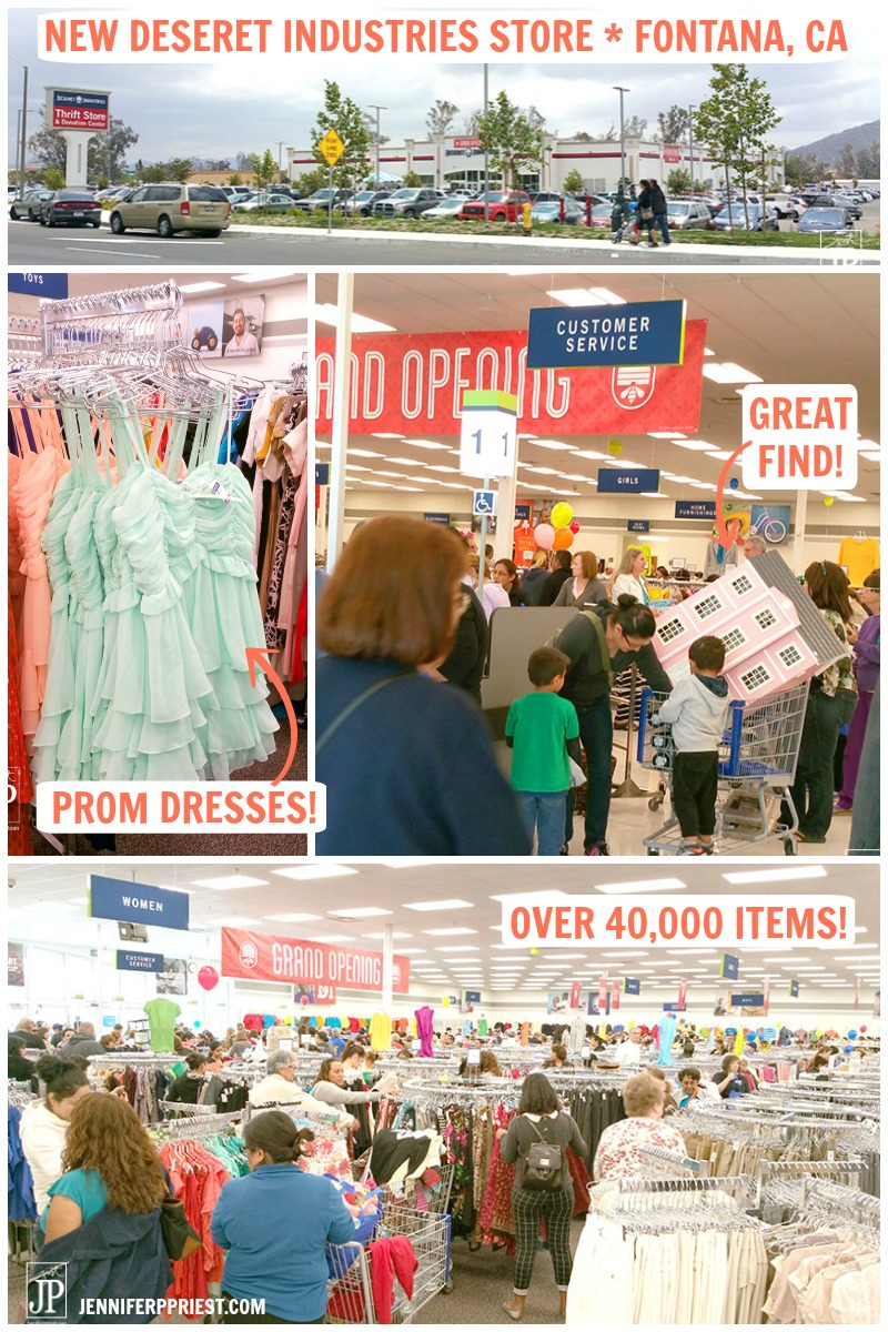 New Deseret Industries Store in Fontana CA - review and tour by Jennifer Priest