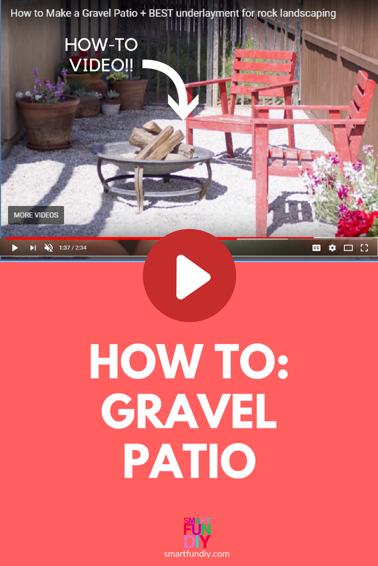 long pin graphic for gravel patio