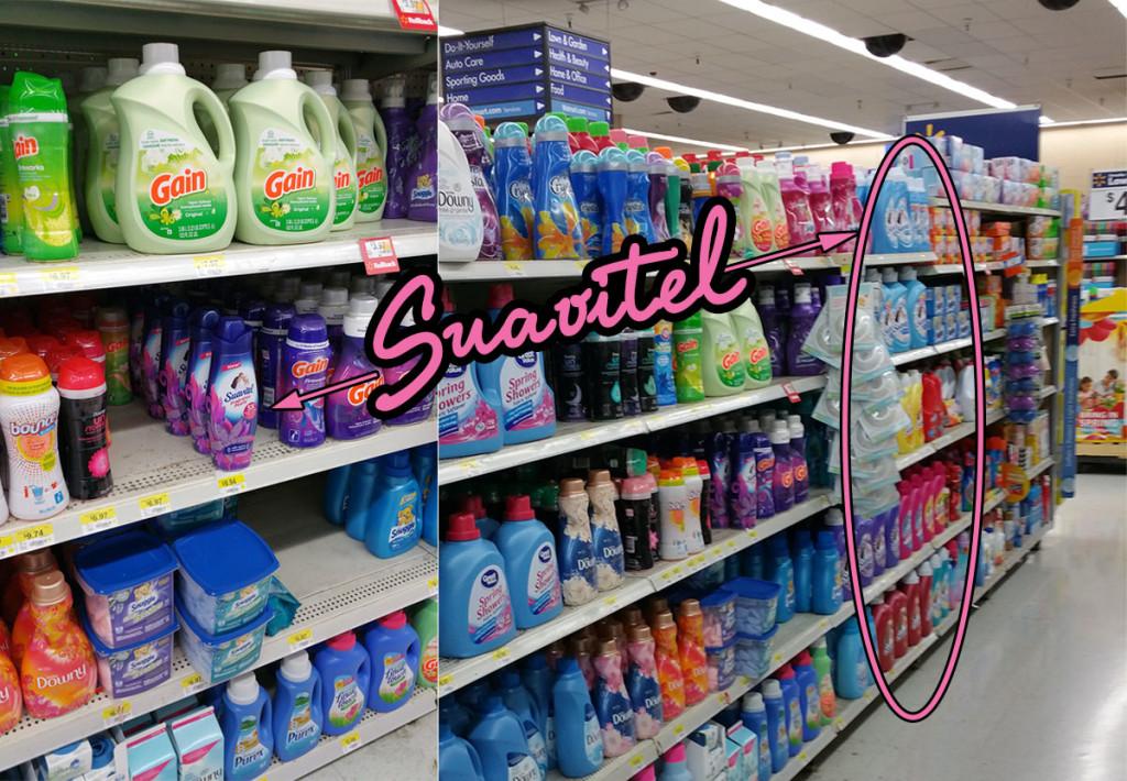 Find Suavitel in Walmart, in the laundry aisle.