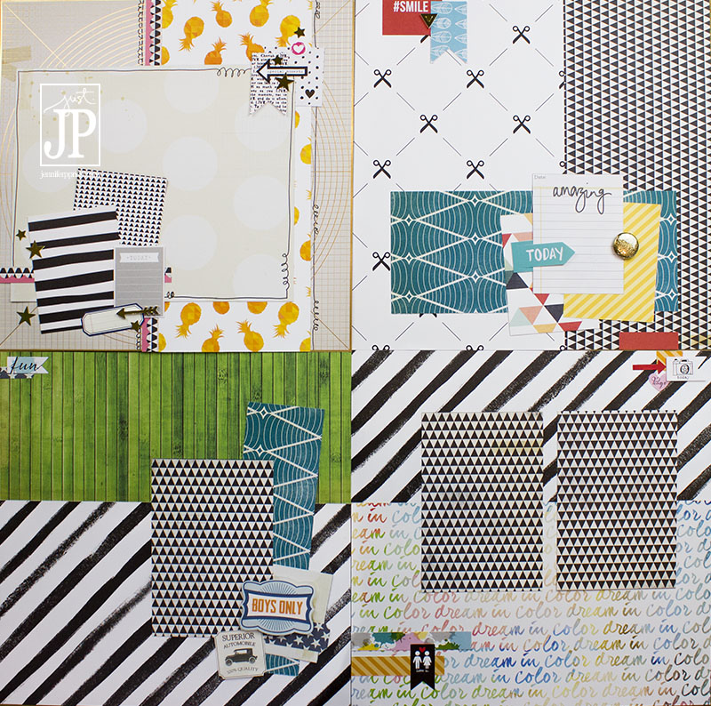 Tombow Paper Issues - Scrap FREE Scrapbooking Layouts JPriest
