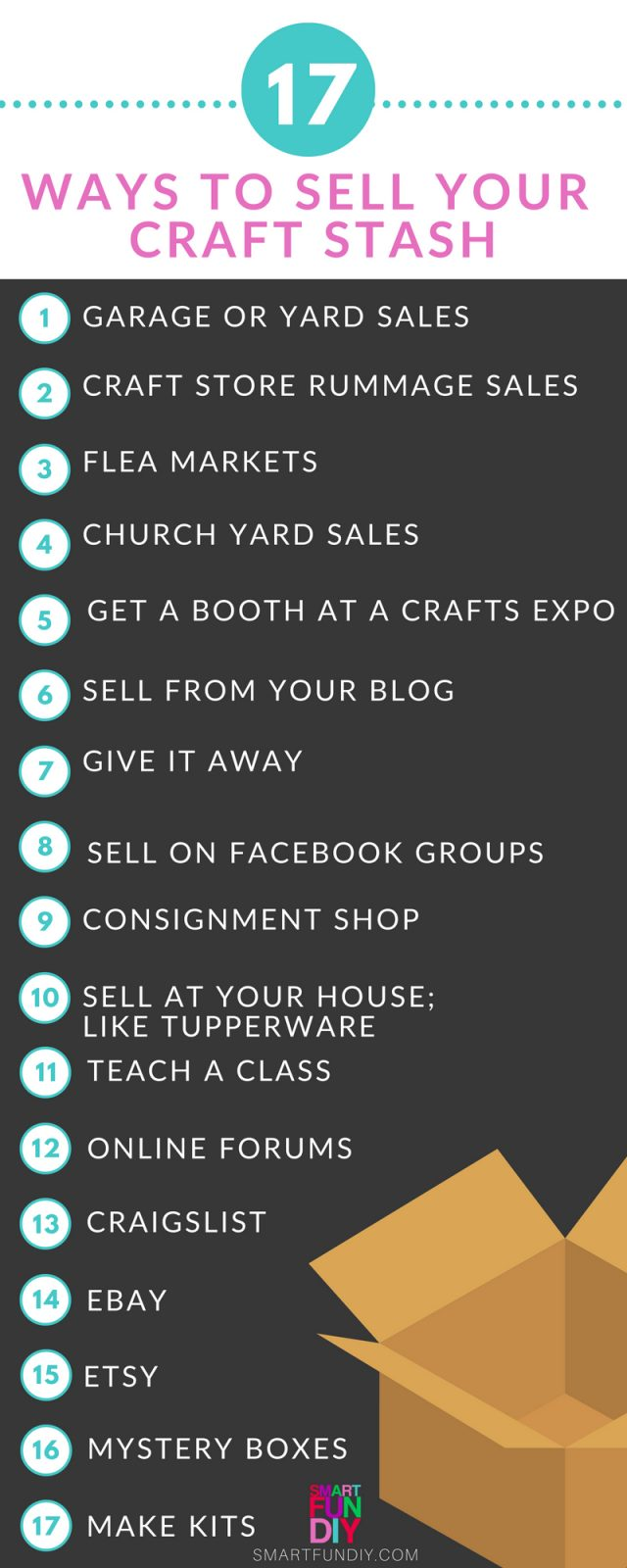 17 Ways To Sell Your Craft Stash For Cash Smart Fun Diy