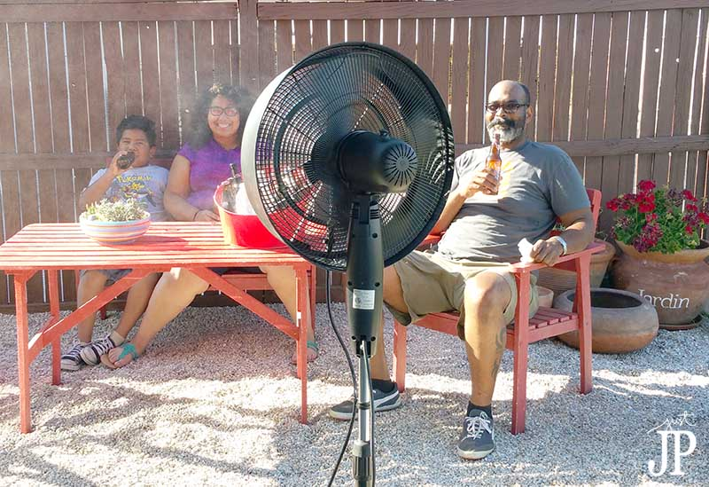Cooling off with a misting fan by NEW AIR JPriest