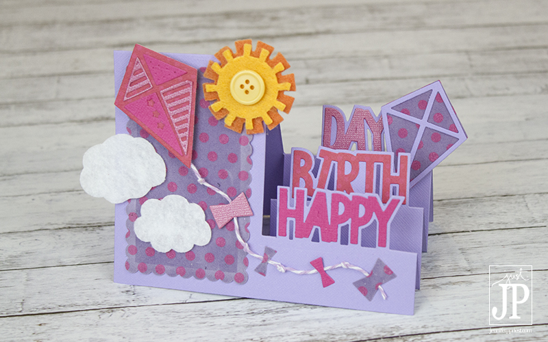 Create A 3D Popup Birthday Card Using Sizzix Framelits And Felt Fabric