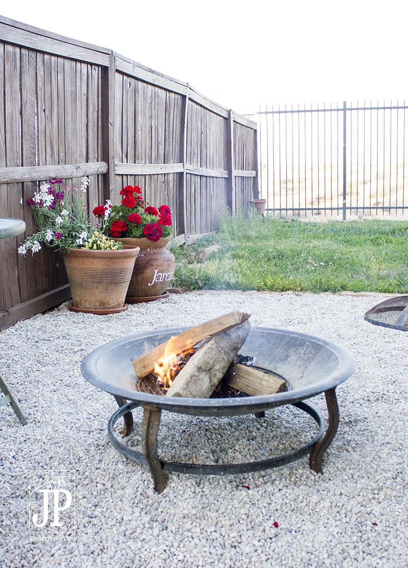 Let the wood burn in the fire pit until it is coals for SMORES - JPriest
