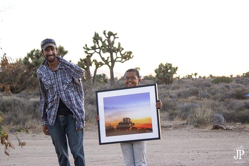 Qamar with CanvasPop Framed Print of High Desert Sunset JPriest 800