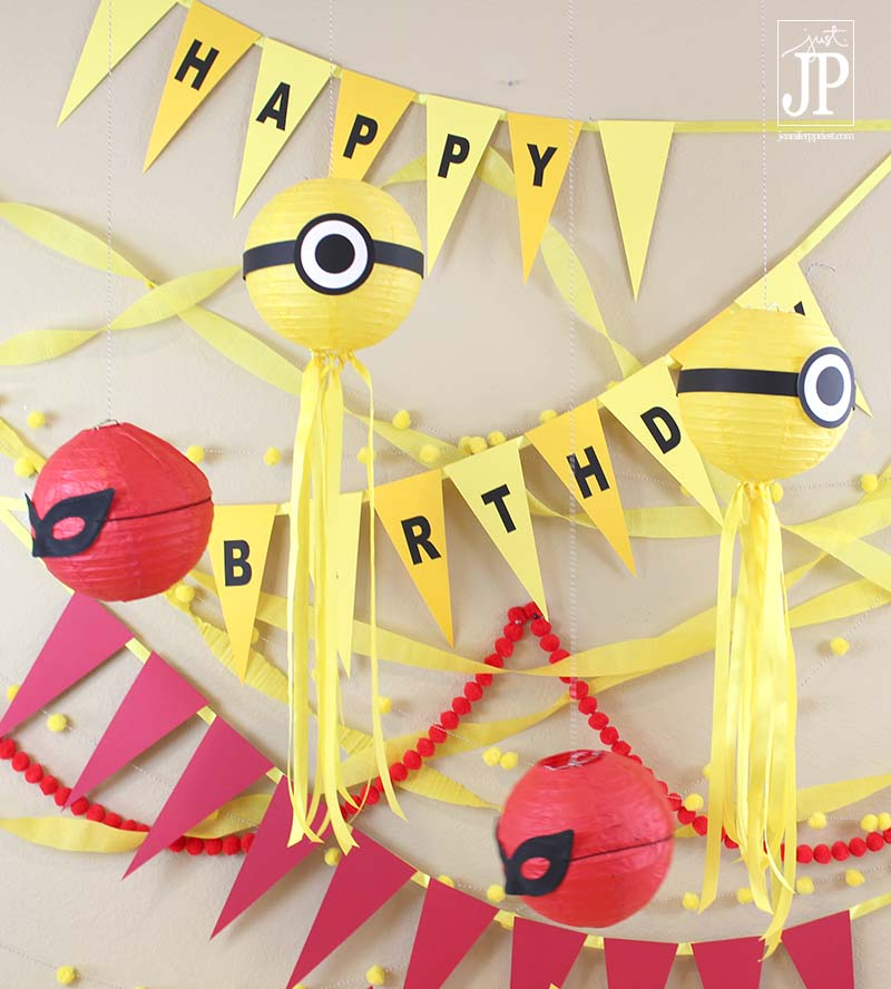 DIY Minions Birthday Party Ideas Banner with Sizzix eclips2