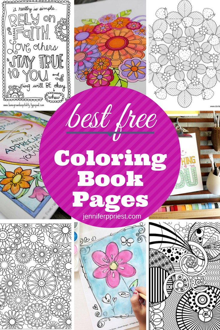 the best free coloring book pages for adults jennifer priest rounded up some great options - Best Coloring Book