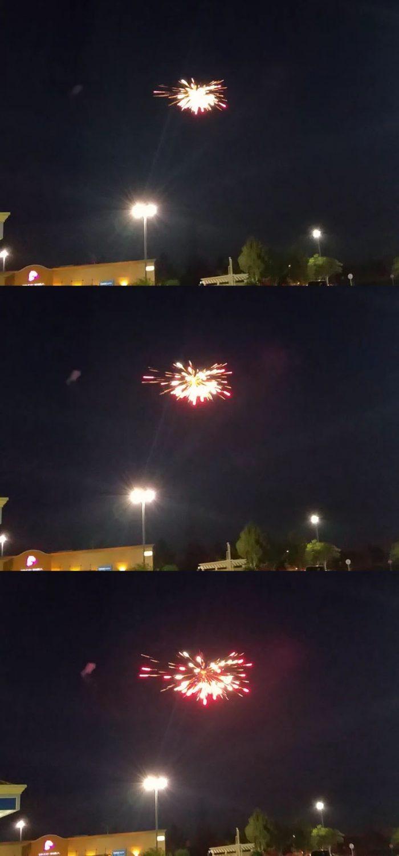 Fireworks in Fontana