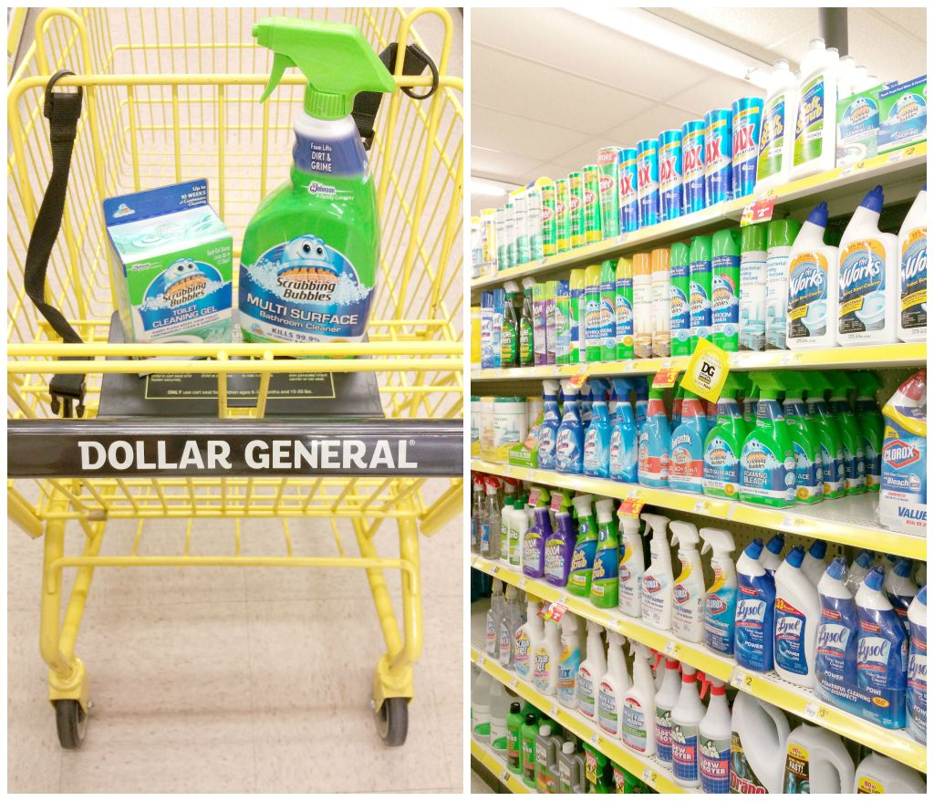 Where to find Scrubbing Bubbles products in Dollar General