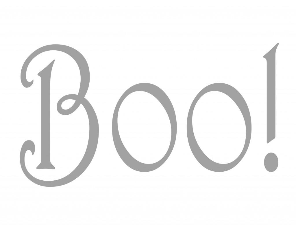 BOO - Printable