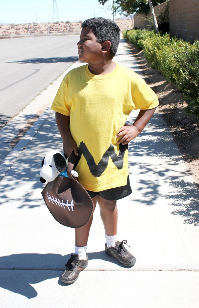 Charlie Brown Costume with FootBall Treat Bag JPriest sm