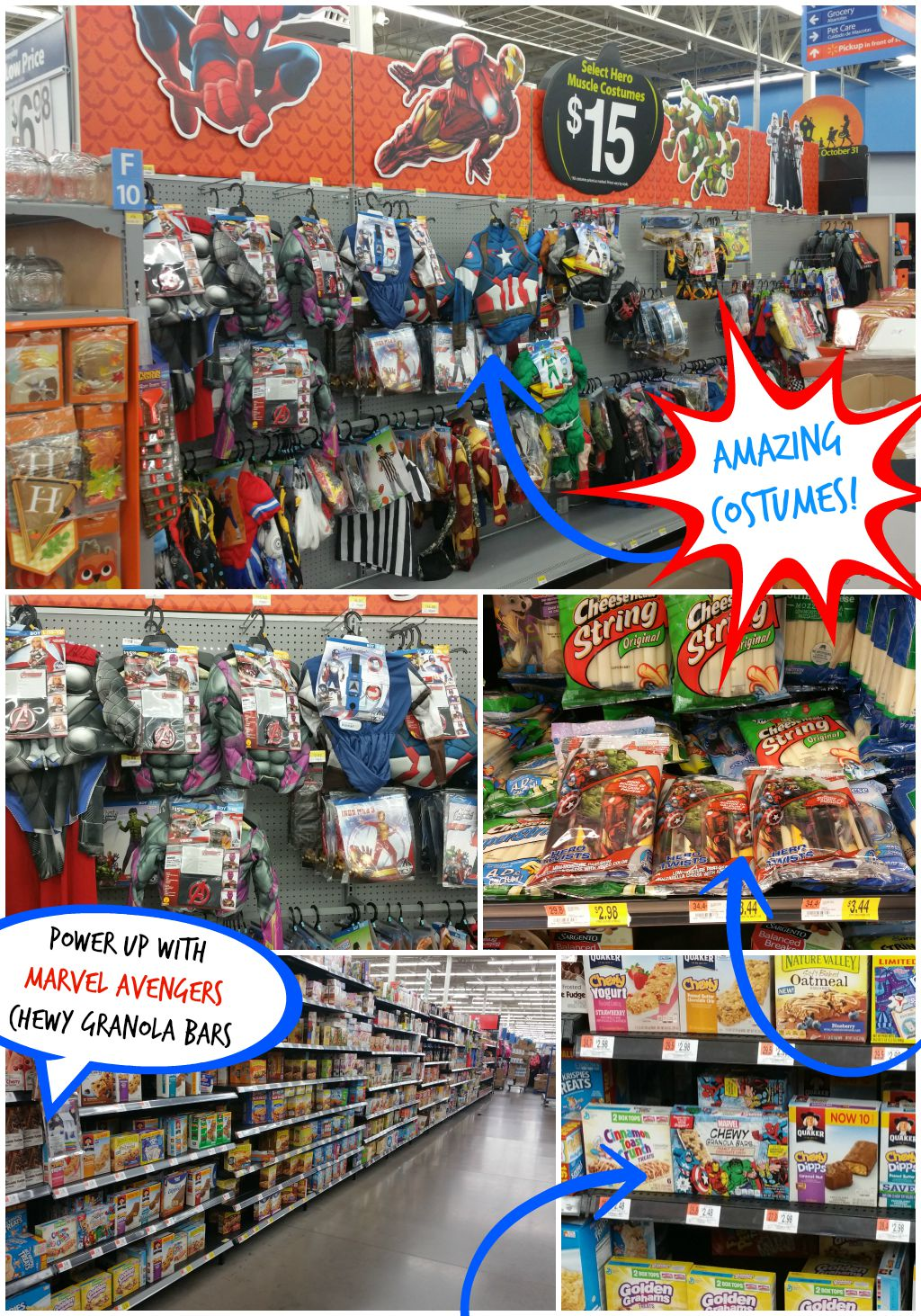 Costumes and MARVEL Avengers at Walmart JPriest