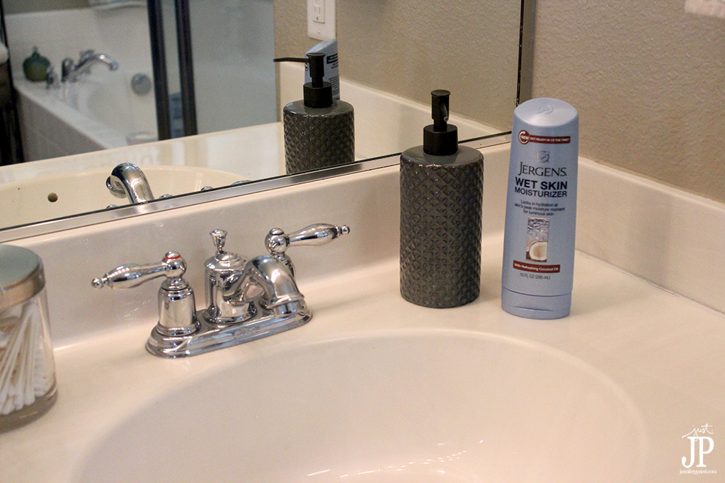 Keep Jergens Wet Skin Moisturizer by the Sink - Jpriest