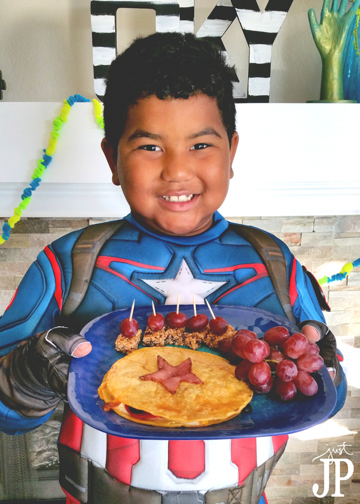 Marvel-Avengers-Quesadilla-and-Snacks-with-Captain-America-Costume-JPriest