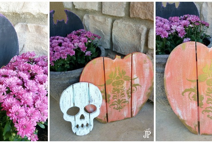 Wood Halloween Decor with Walnut Hollow Wood #JPHalloween