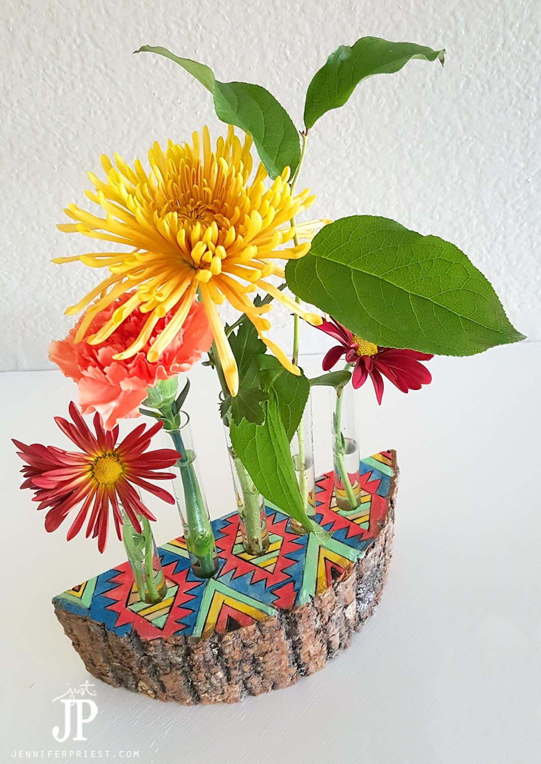DIY-Tribal-Southwest-wood-vase-with-test-tubes-JPriest